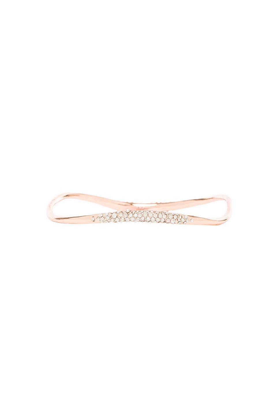 Alexis Bittar Thin Pave Bangle in Rose Gold