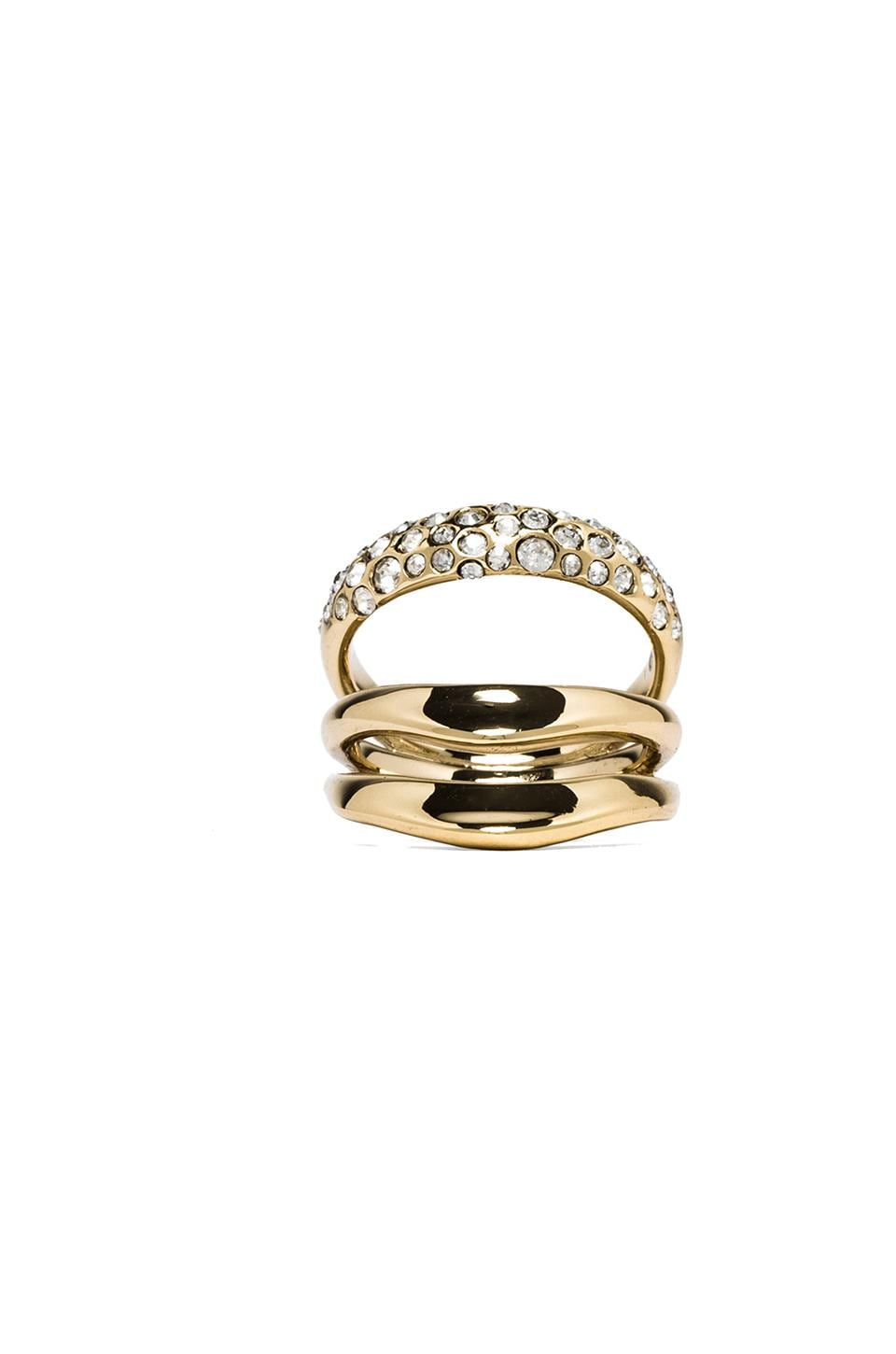 Alexis Bittar Liquid Crystal Encrusted Draping Ring Size in Gold