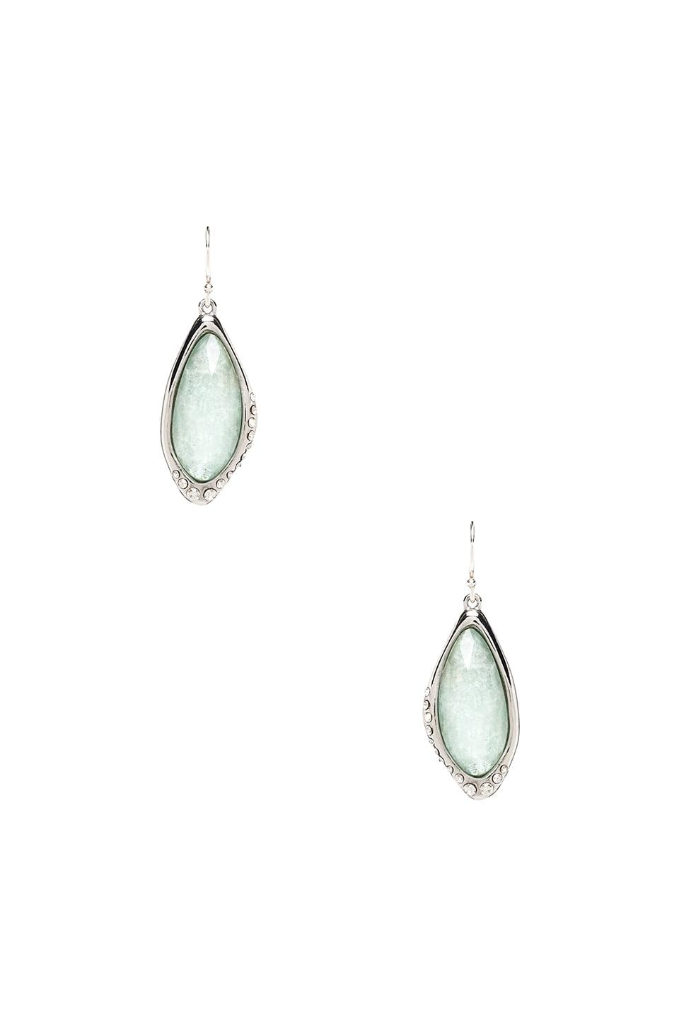 Alexis Bittar Liquid Infinity Drop Amazonite Earrings in Rhodium