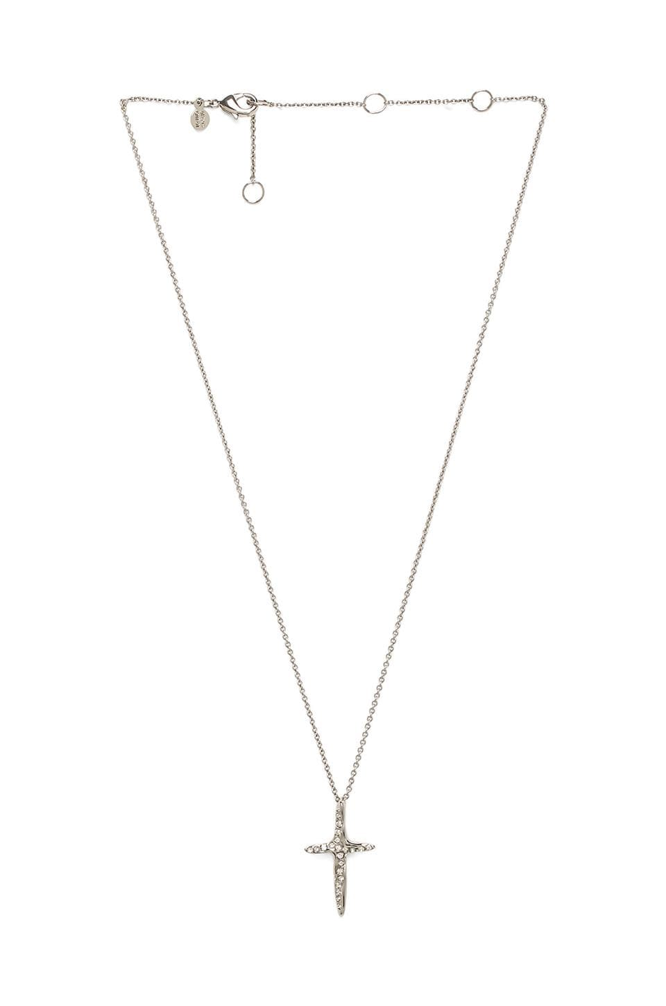 Alexis Bittar Liquid Cross Pendant in Rhodium