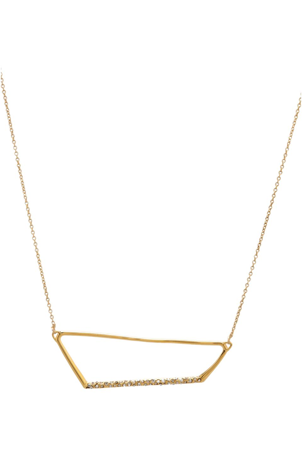 Alexis Bittar New Wave Gold Pave Trapezoid Necklace