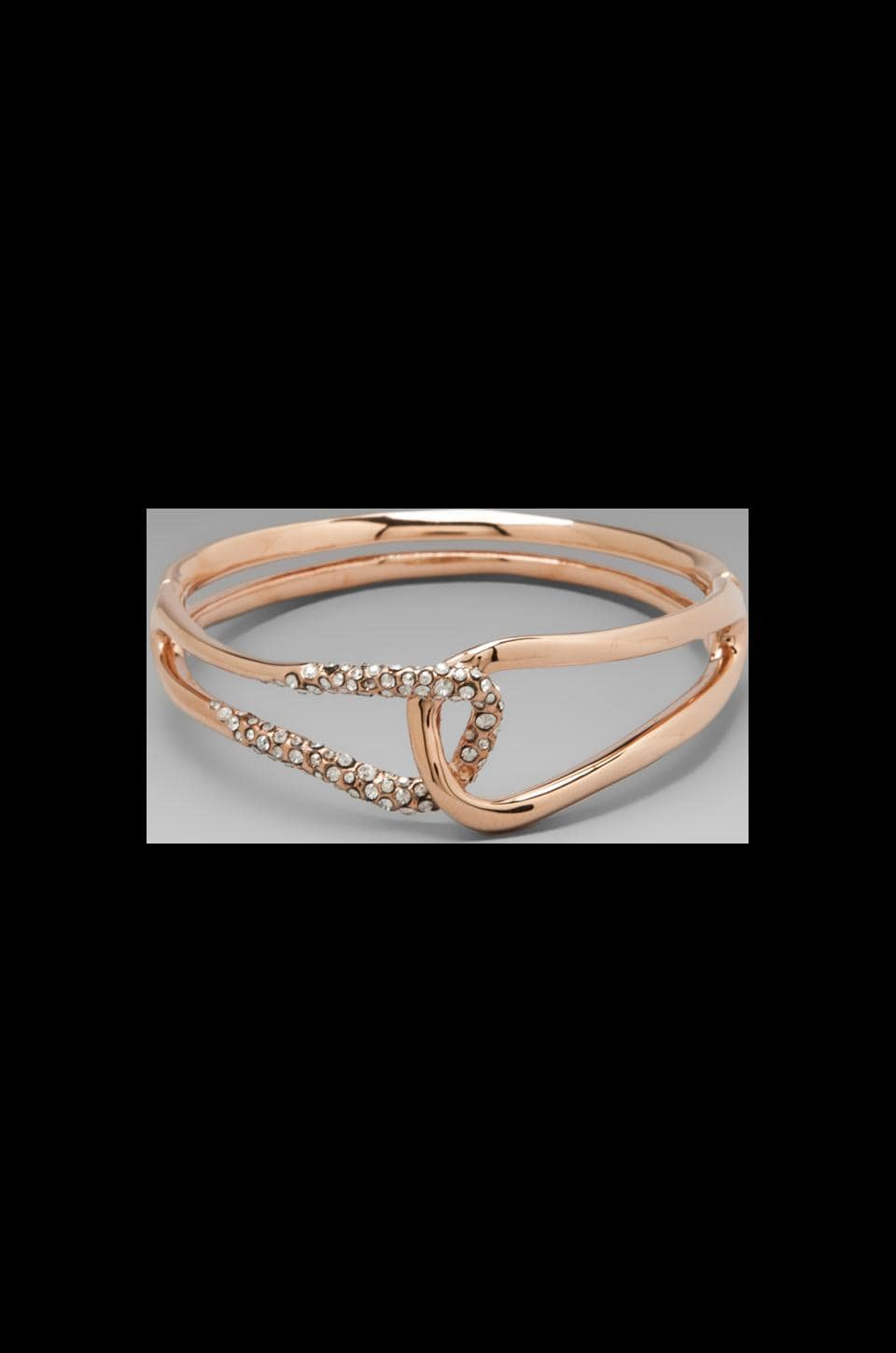 Alexis Bittar Liquid Rose Gold Interlocked Bracelet