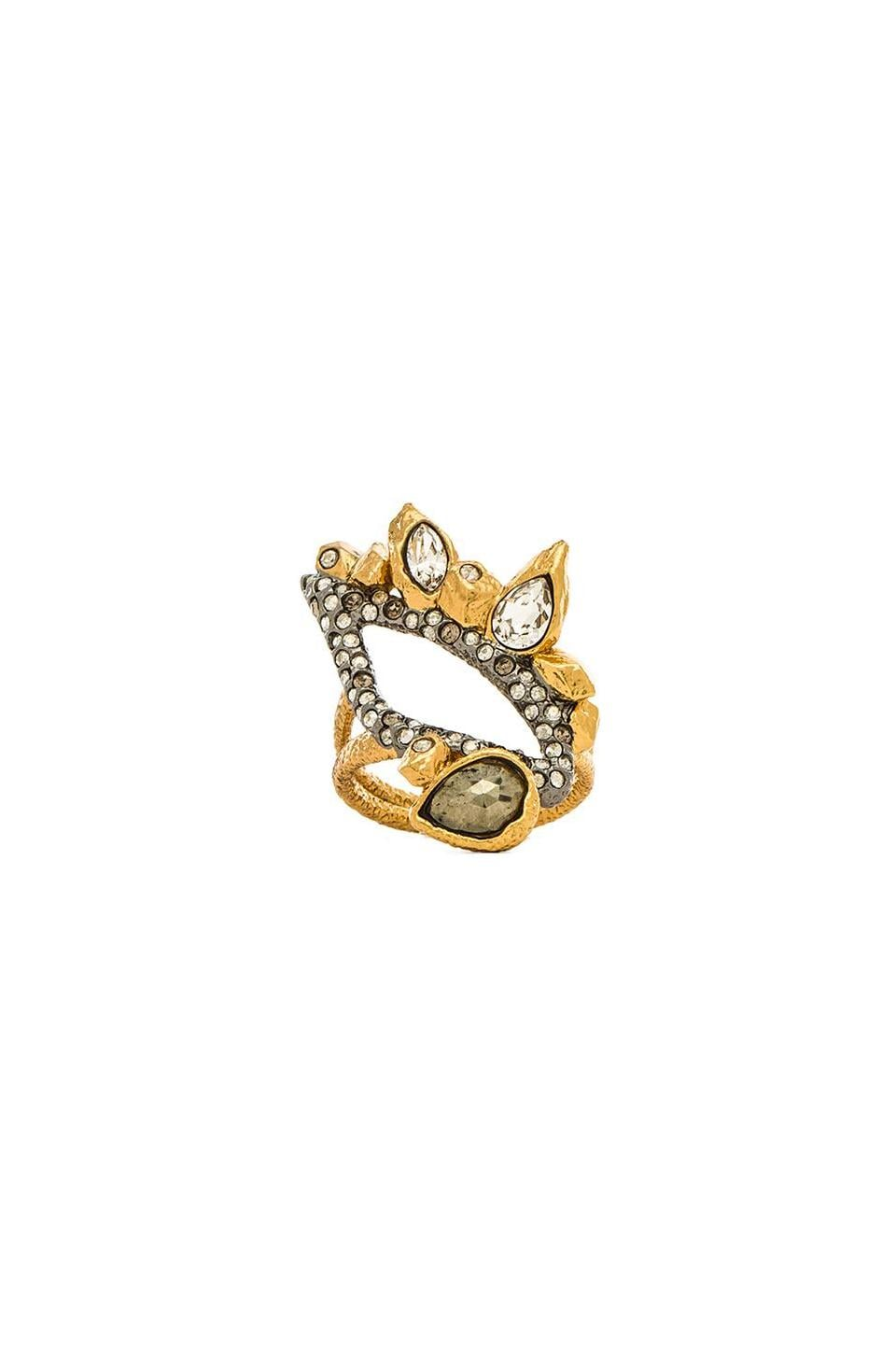 Alexis Bittar Rocky Ring in Gold & Ruthenium