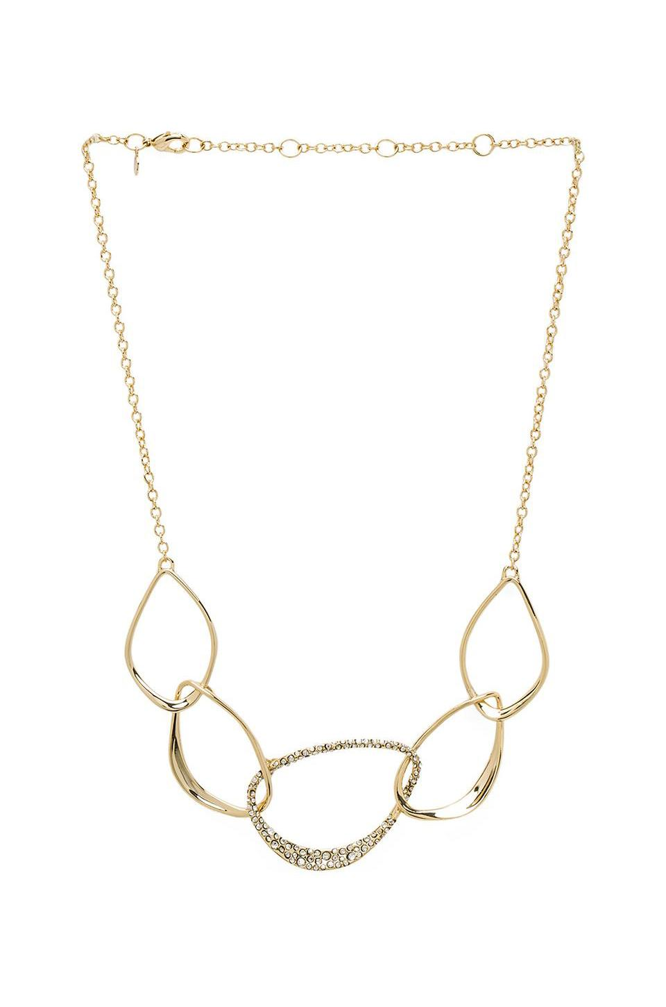 Alexis Bittar Five Link Orbiting Aura Necklace in Gold