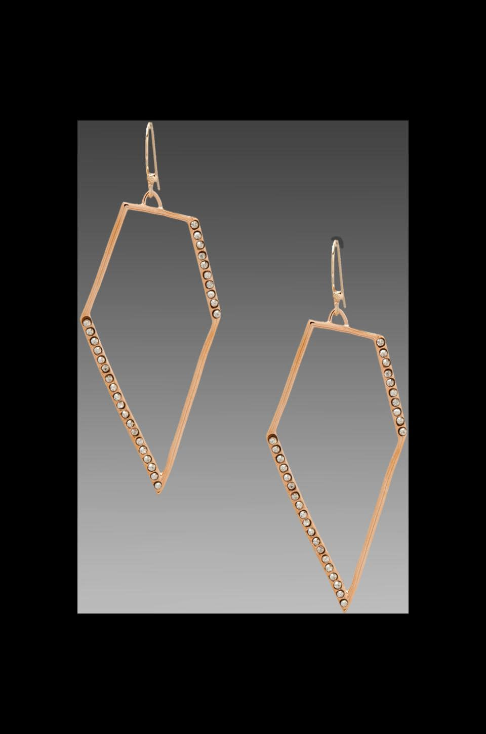 Alexis Bittar New Wave Rose Gold Pave Kite Earring