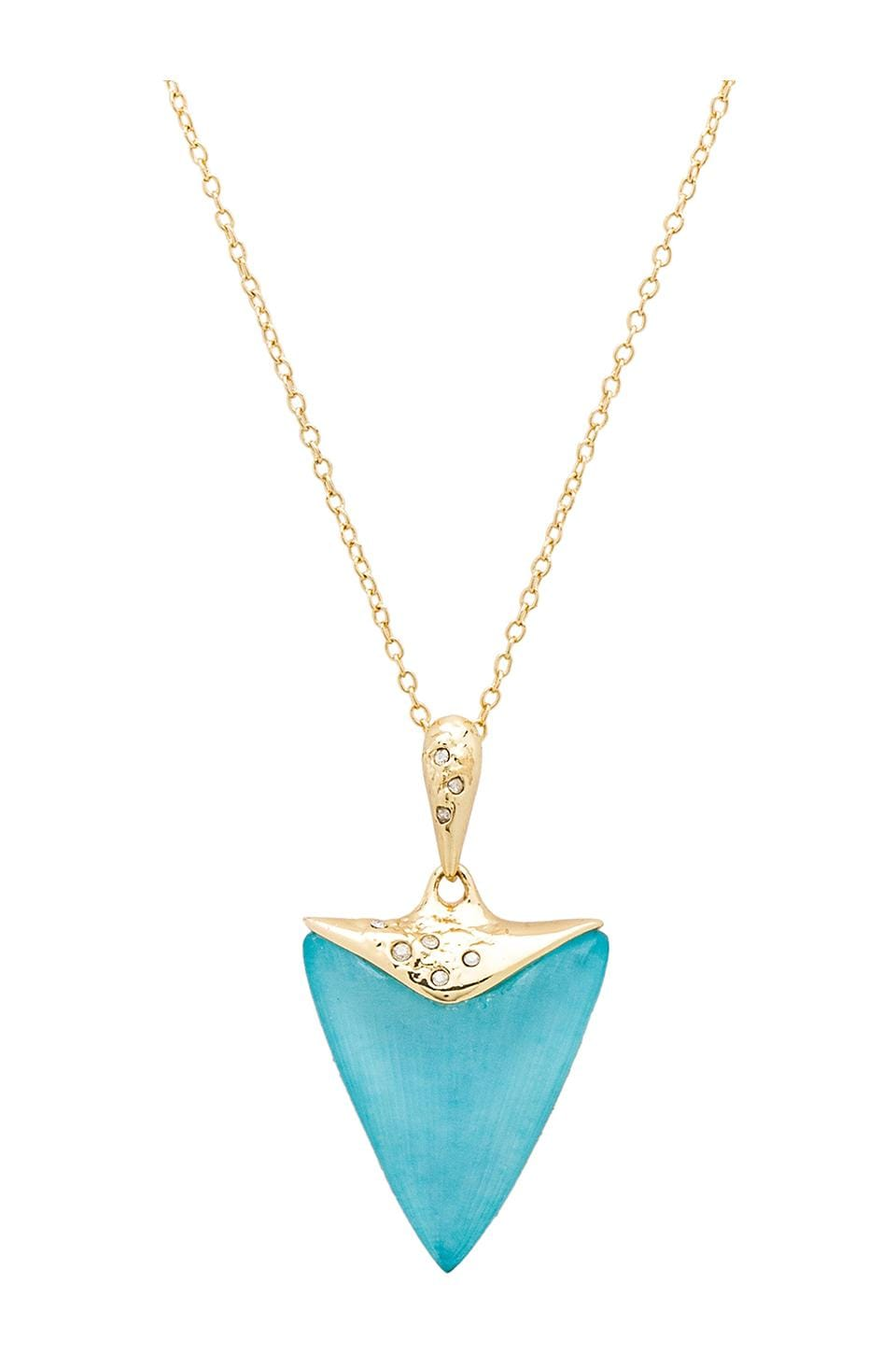 Alexis Bittar Crystal Embellished Pendant Necklace in Ice