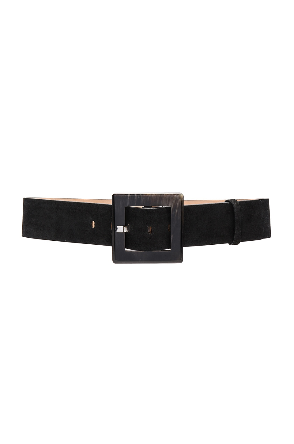Square Buckle Suede Wide Belt by Alice + Olivia