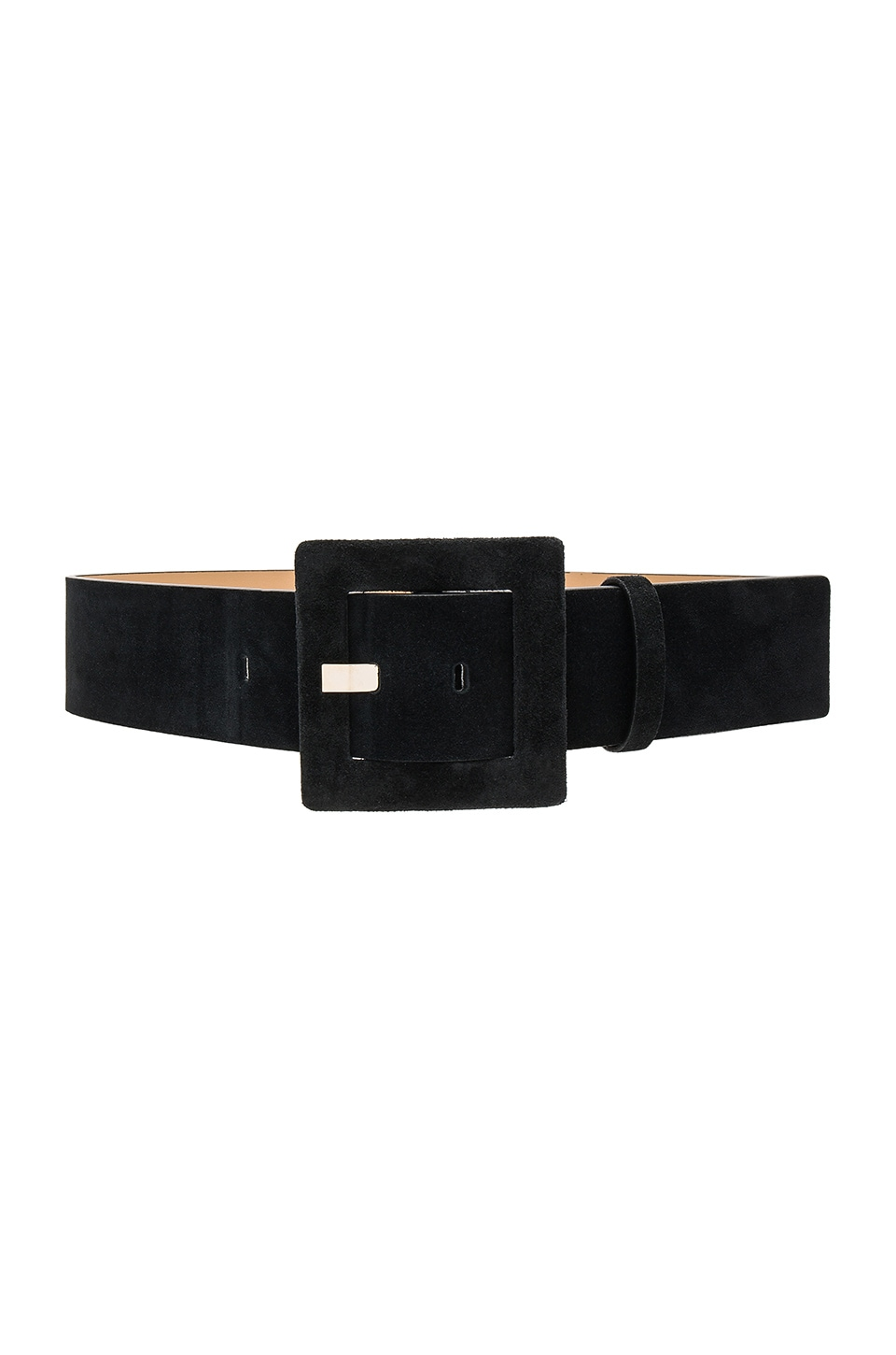 Alice + Olivia Square Buckle Belt in Black