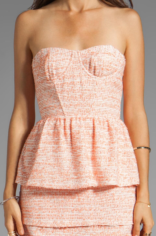 Alice + Olivia Shellyanne Bra Tank Tiered Skirt Dress in Orange