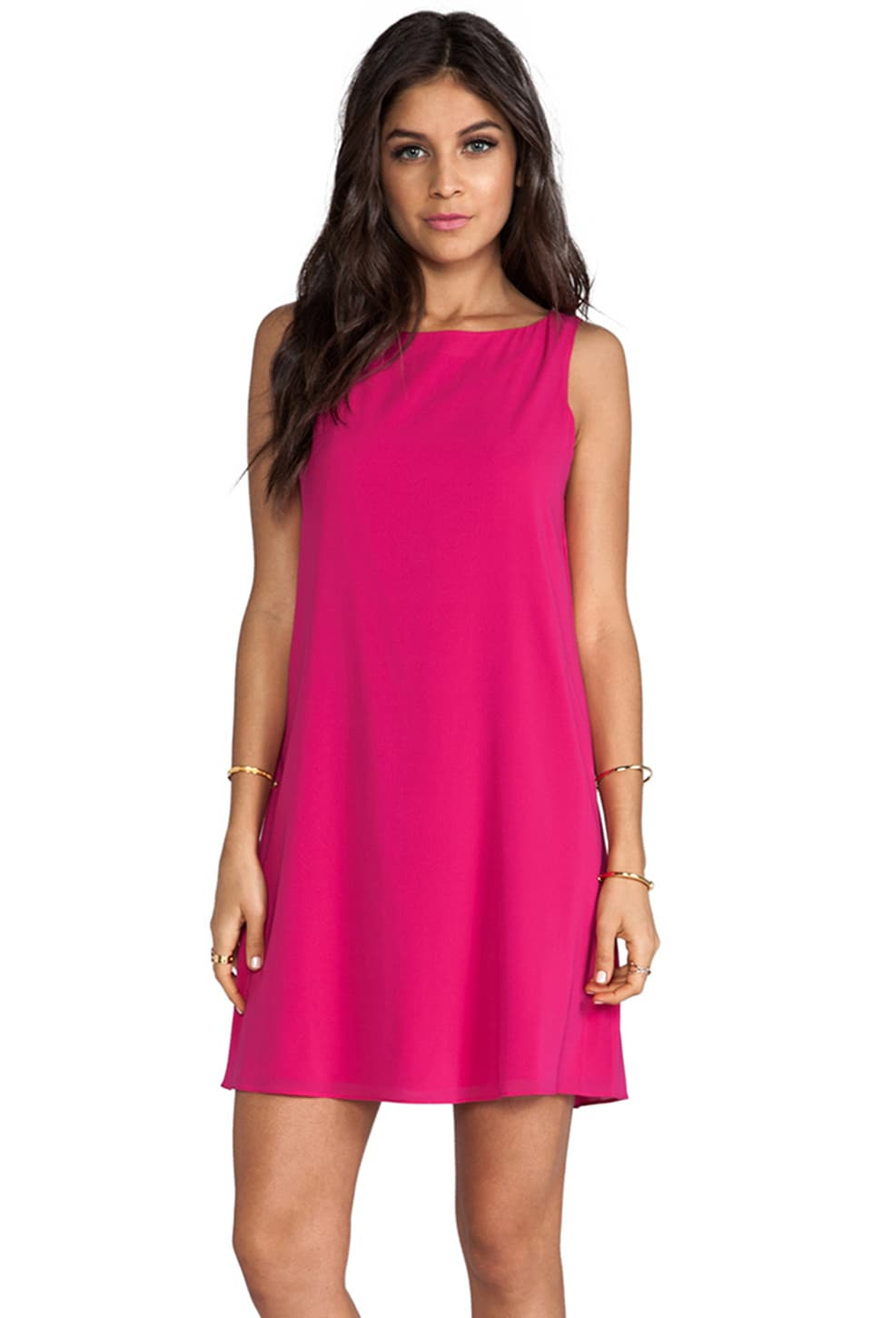 Alice + Olivia Trina Bow Back Tunic Dress