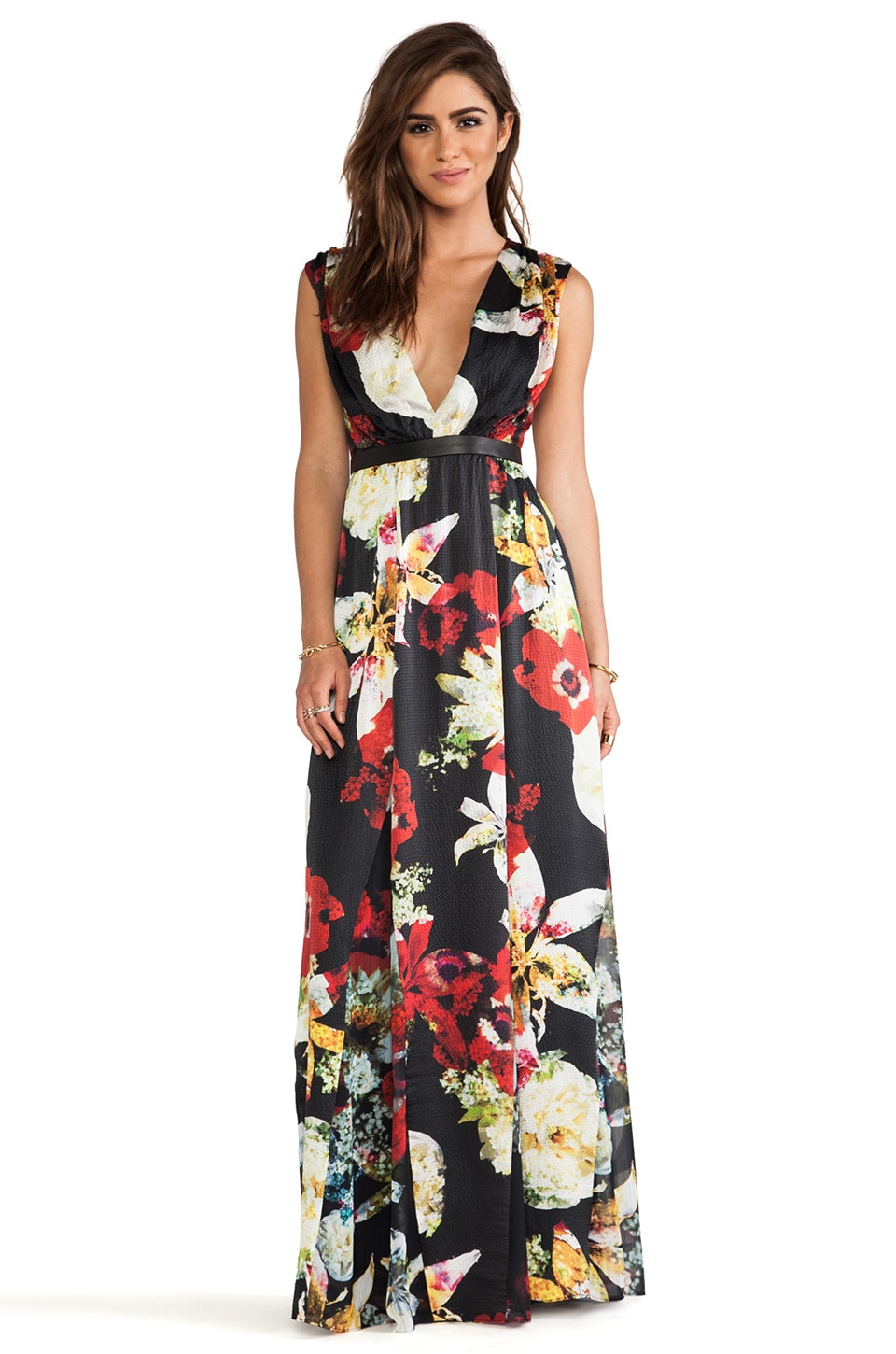Alice + Olivia Triss Sleeveless Maxi Dress in Blossom Montage