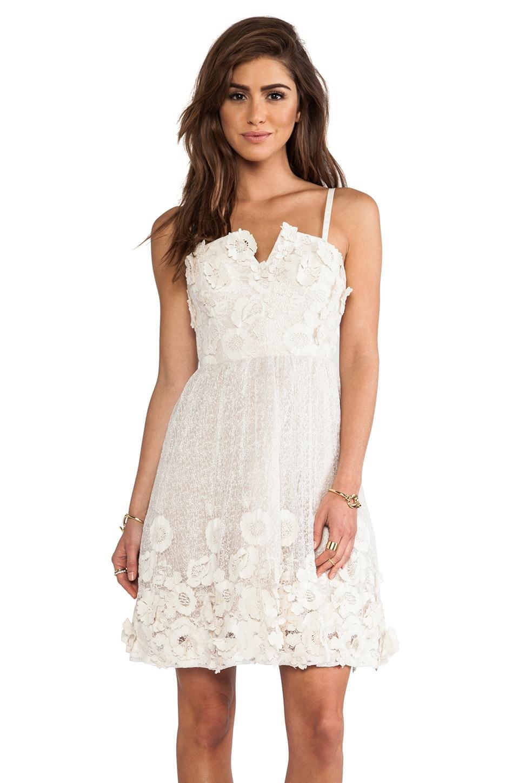 Alice + Olivia Devorah Bustier Mini Dress in White