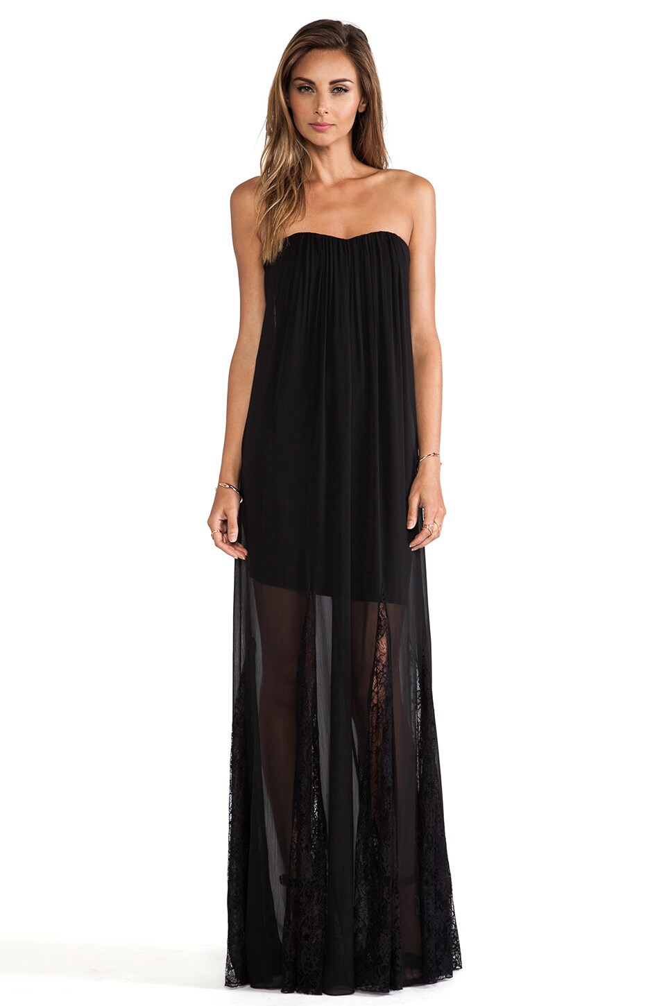 Alice + Olivia Francesca Strapless Maxi Dress in Black