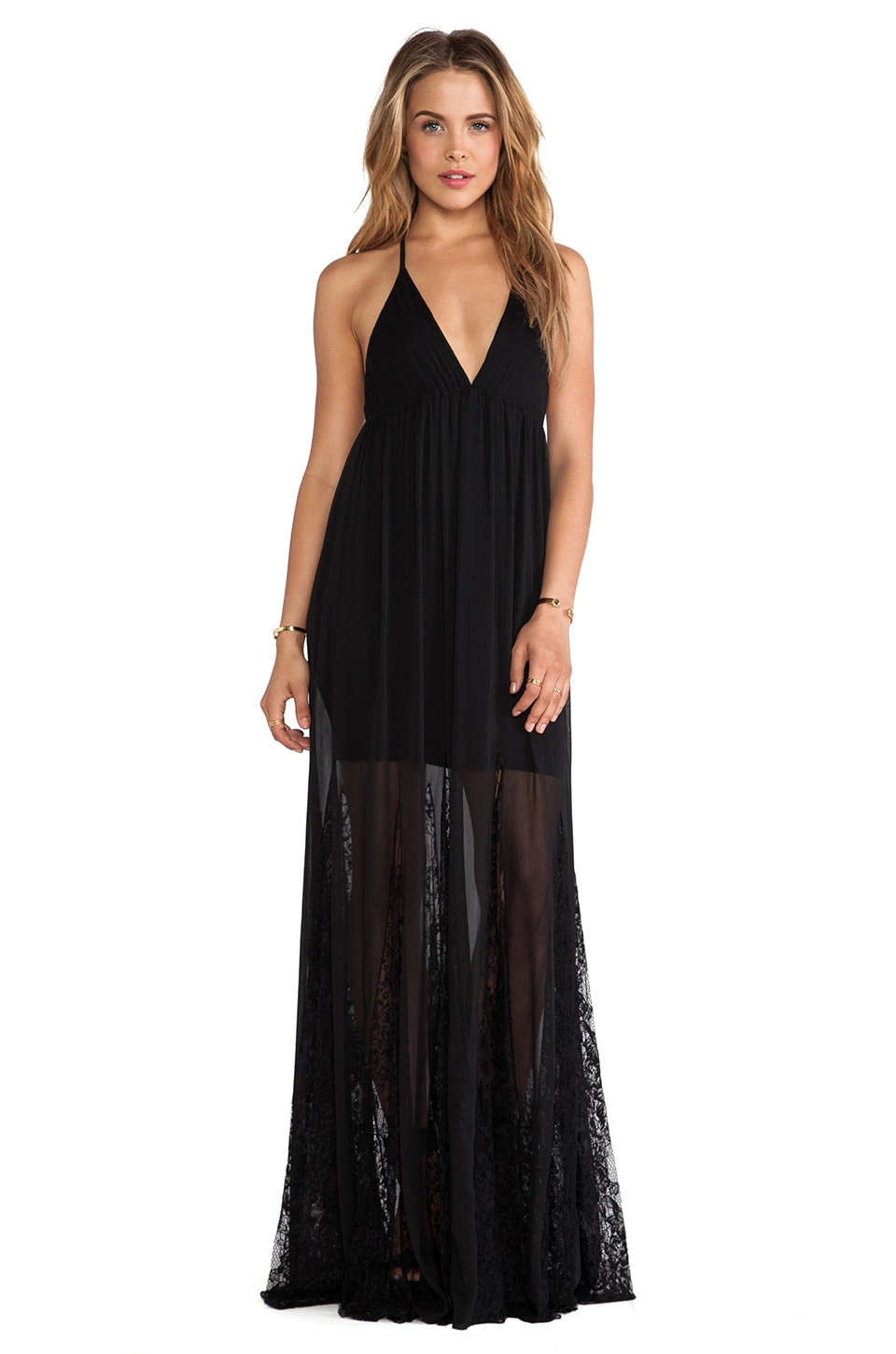 Alice + Olivia Murray Maxi Dress in Black
