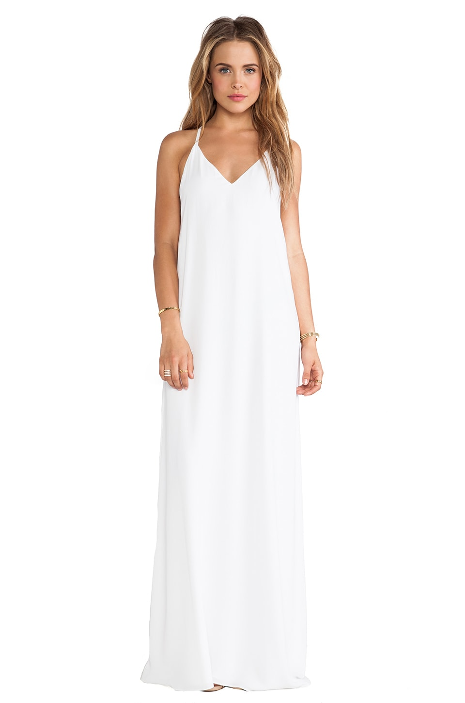 Alice + Olivia Dove Relaxed Maxi Dress in White