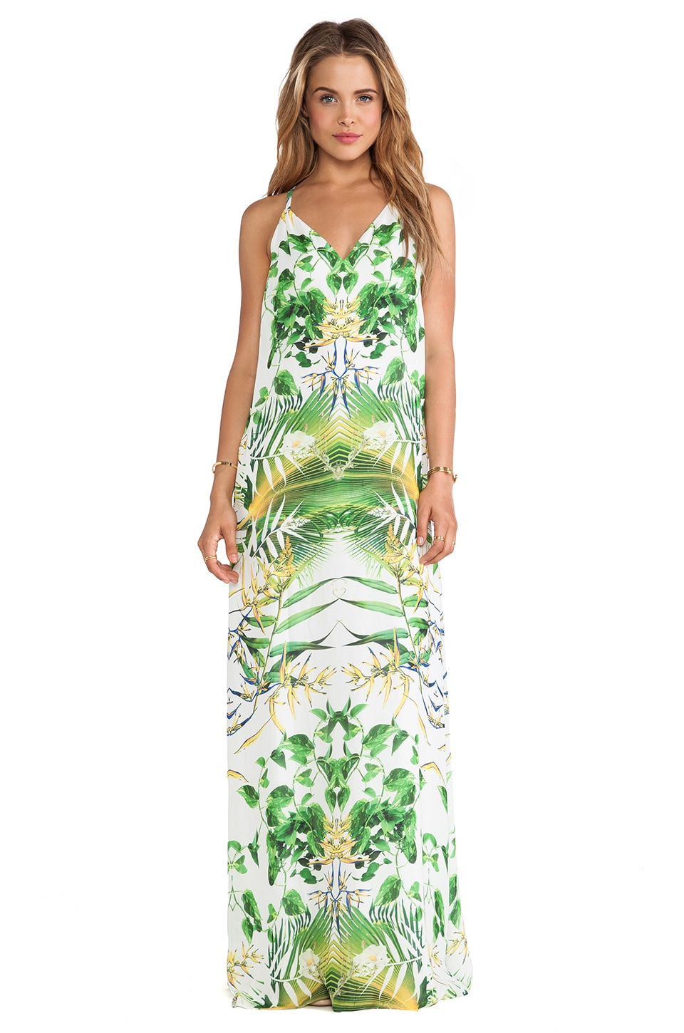 Alice + Olivia Dove Relaxed Maxi Dress in Sunburst Palm