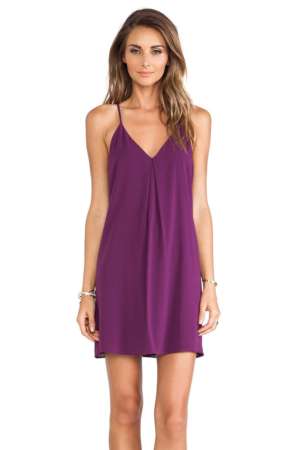 Alice + Olivia Fierra Y-Back Tank Dress in Purple