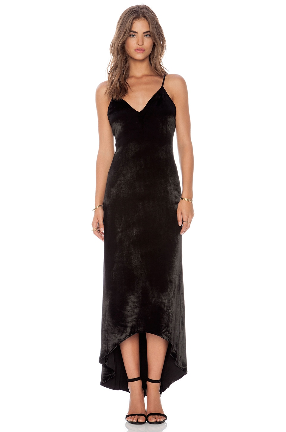 Alice   Olivia Velvet Maxi Dress in Black | REVOLVE