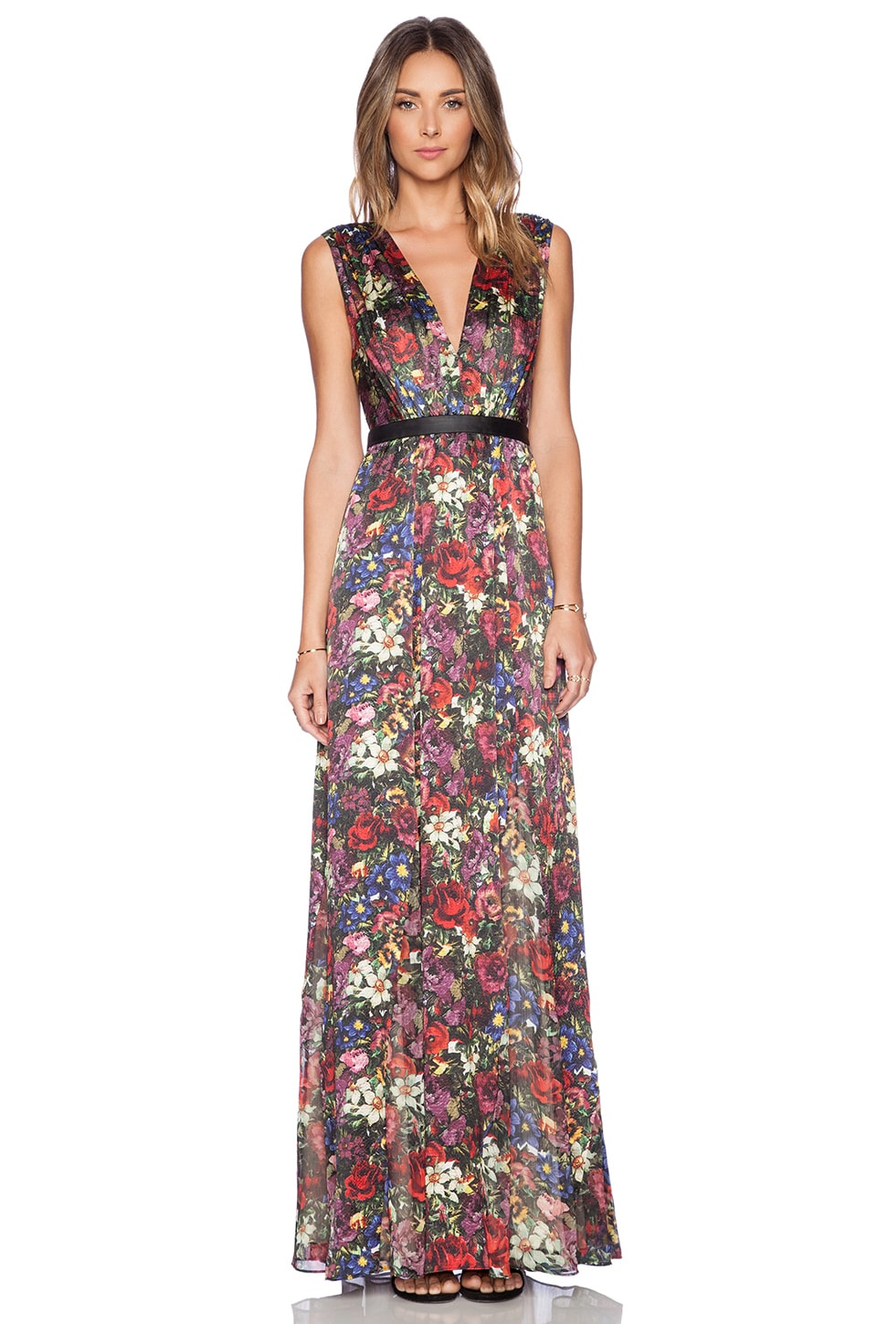 Alice   Olivia Triss Maxi Dress in English Floral | REVOLVE