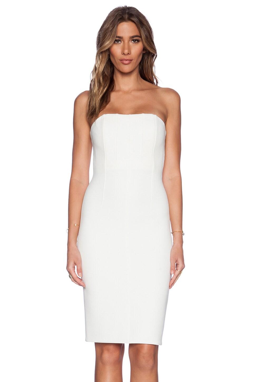 Alice + Olivia Nita Slim Fitted Dress in Off White