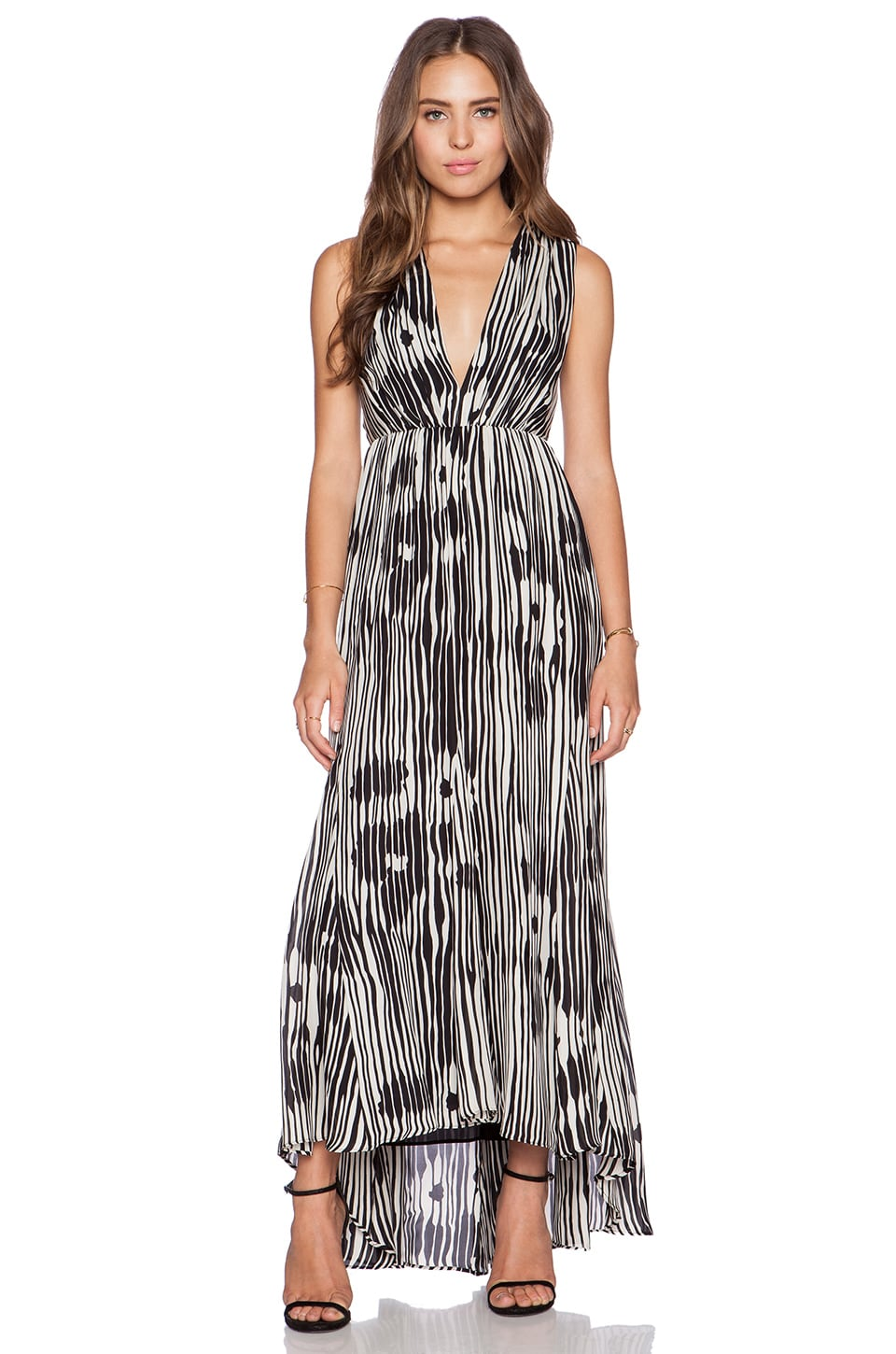 Lexa V Neck Ruched Maxi Dress