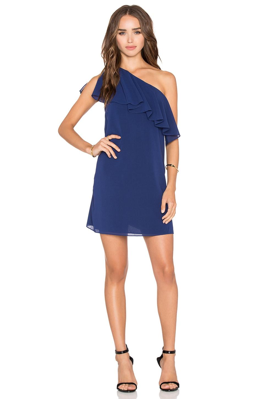 Alice + Olivia Francie Mini Dress in Indigo