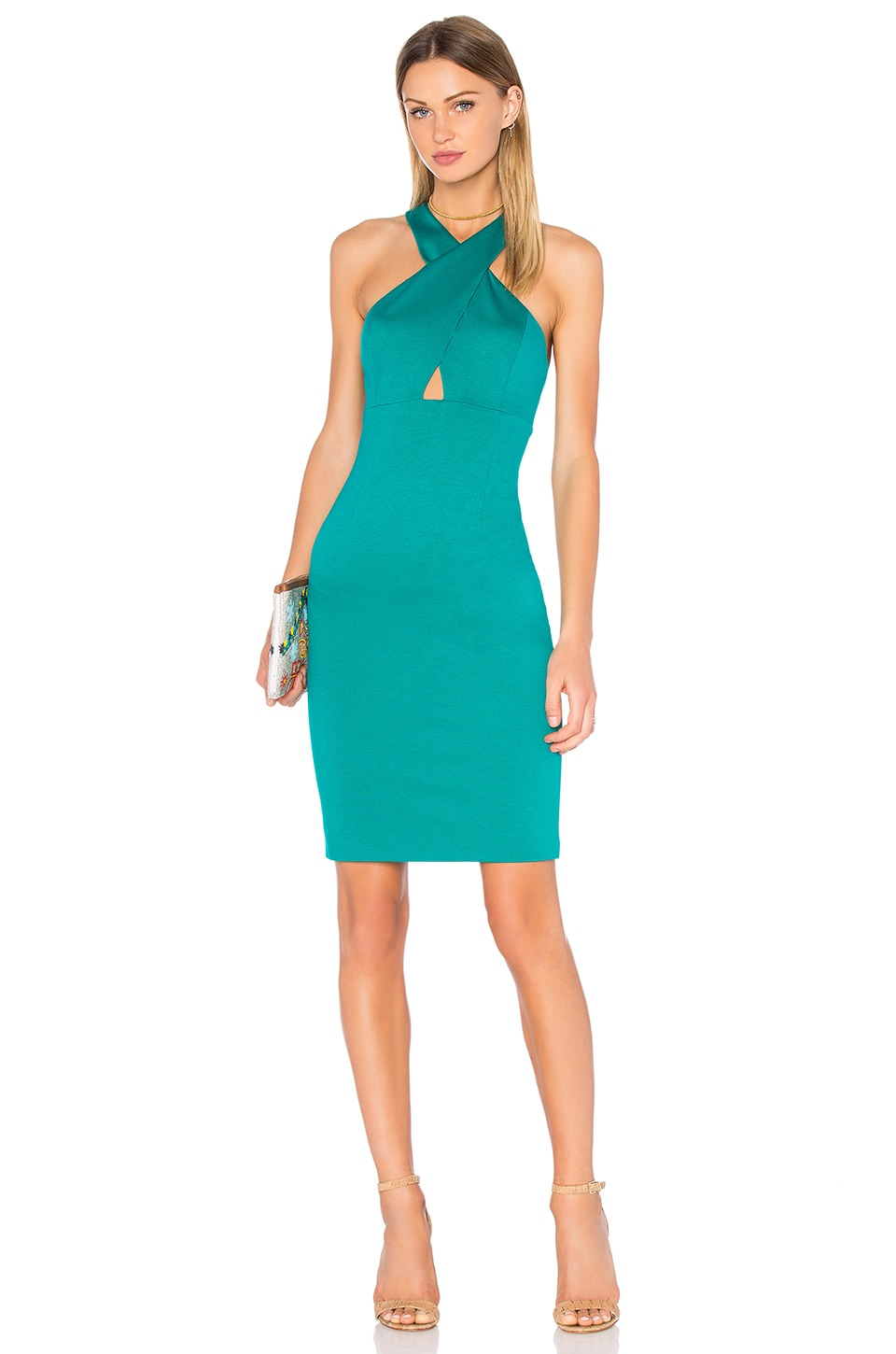 buy Tai Cross Front Midi Dress by Alice + Olivia dresses online shopping