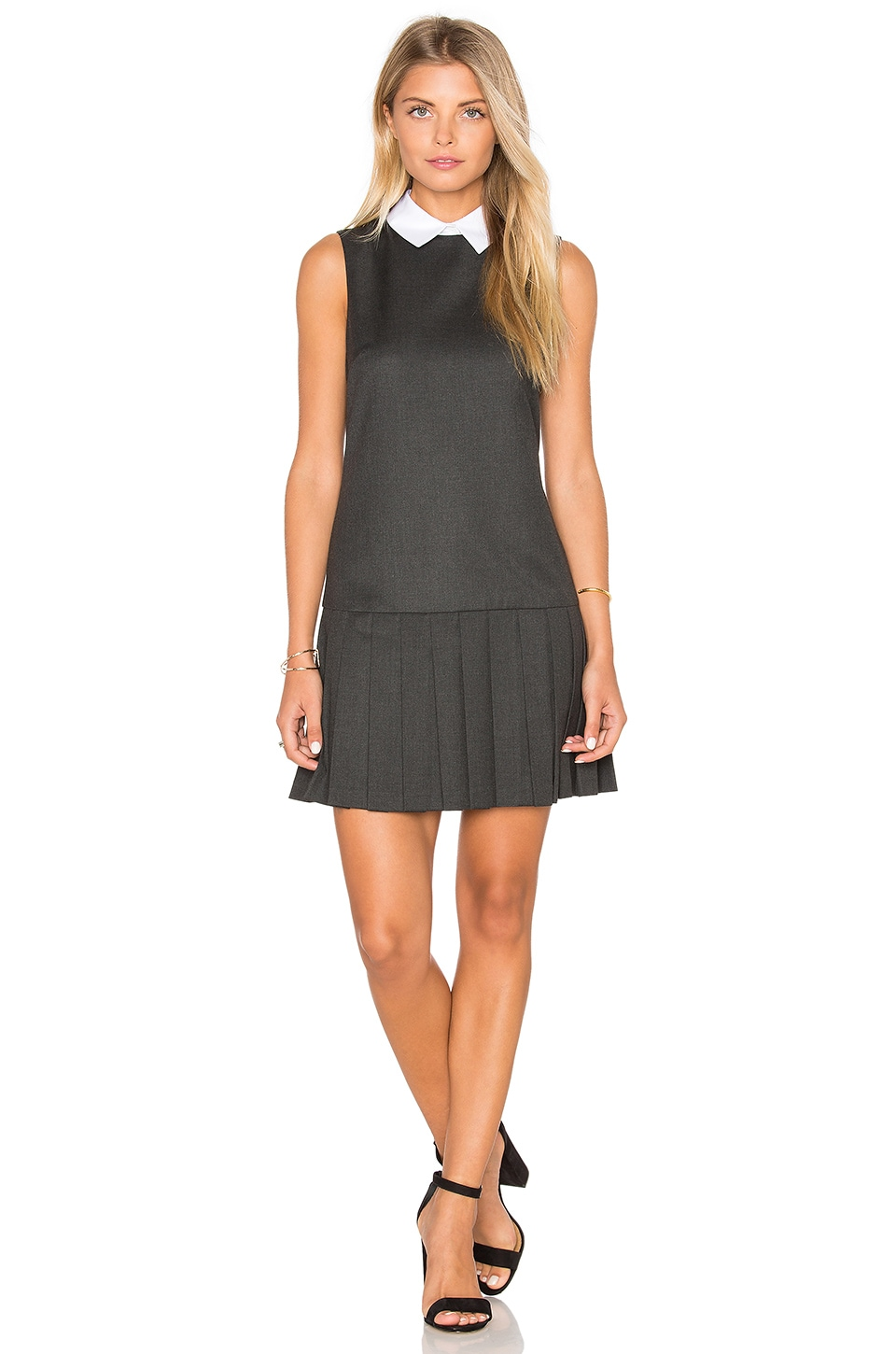 Alice + Olivia Alice Dress in Dark Charcoal