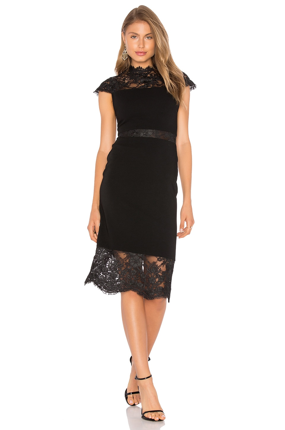 buy Kim Lace Midi Dress by Alice + Olivia dresses online shopping
