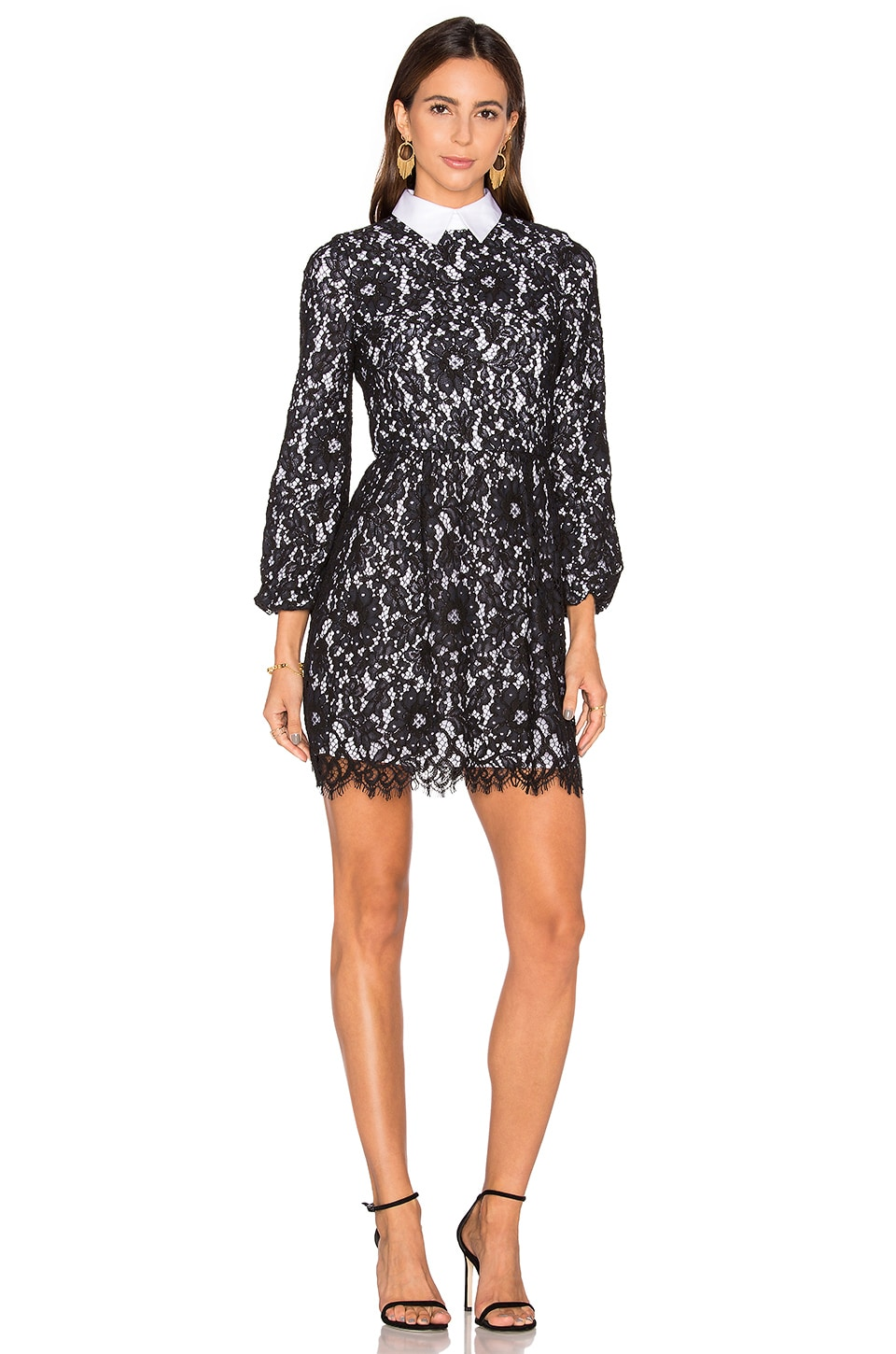 Terisa Fit & Flare Lace Dress by Alice + Olivia