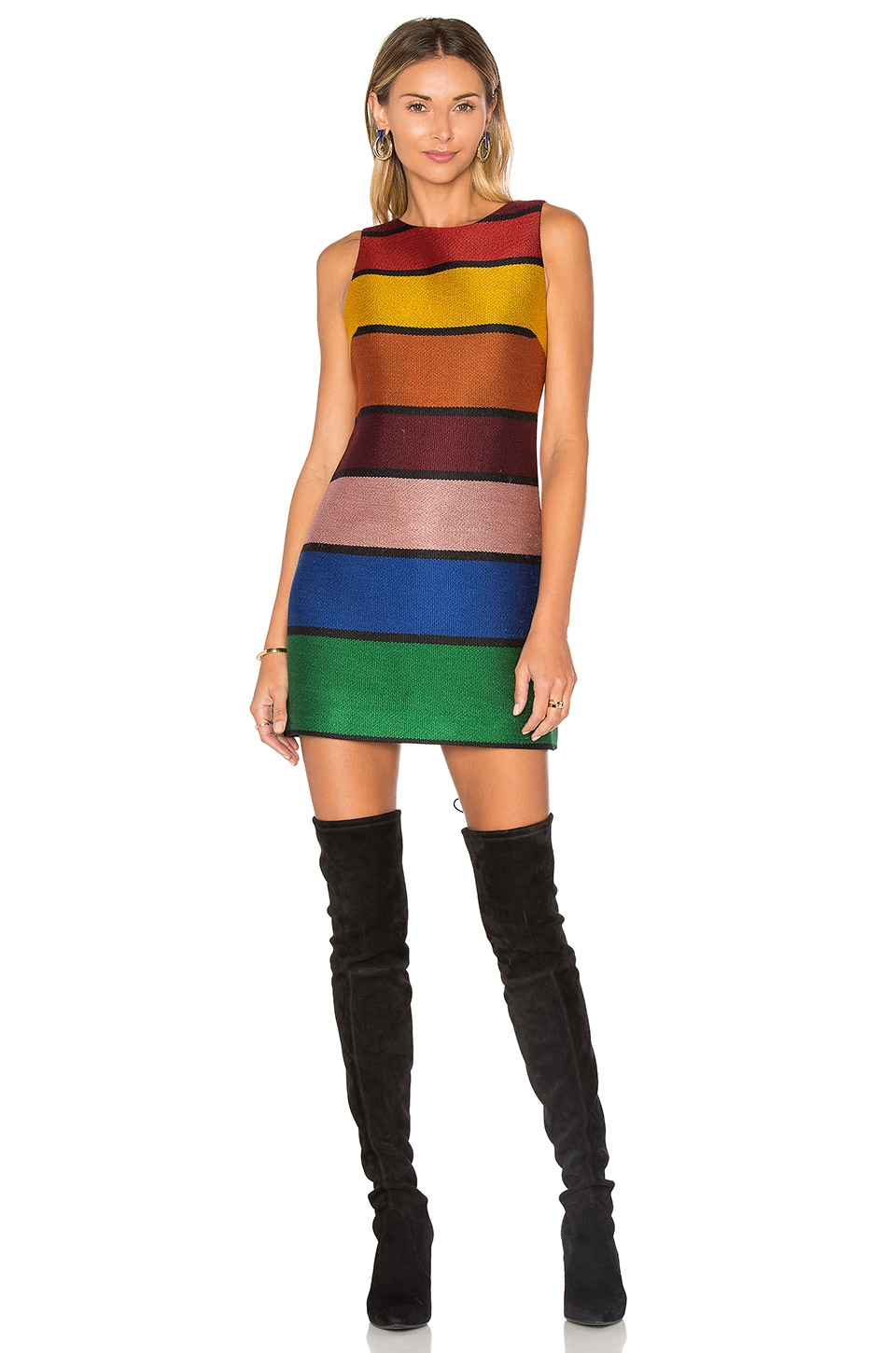 buy Clyde Aline Shift Dress by Alice + Olivia dresses online shopping