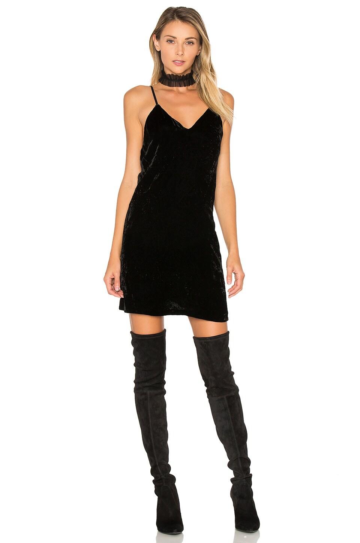 Alice + Olivia Kera Slip Dress in Black