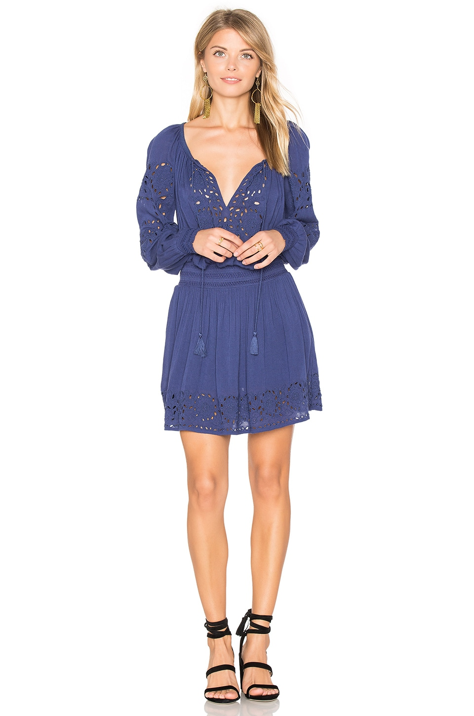 Alice + Olivia Brenda Mini Dress in Midnight Blue