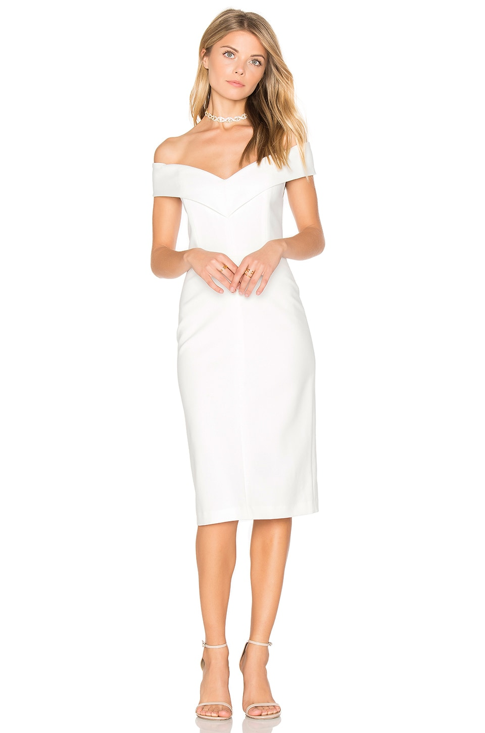 Alice olivia luana off shoulder dress in off white revolve alice olivia luana off shoulder dress in off white ombrellifo Images