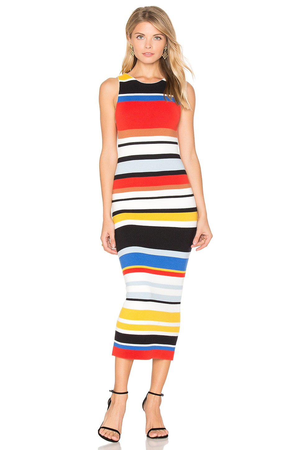 buy Jenner Ribbed Midi Dress by Alice + Olivia dresses online shopping