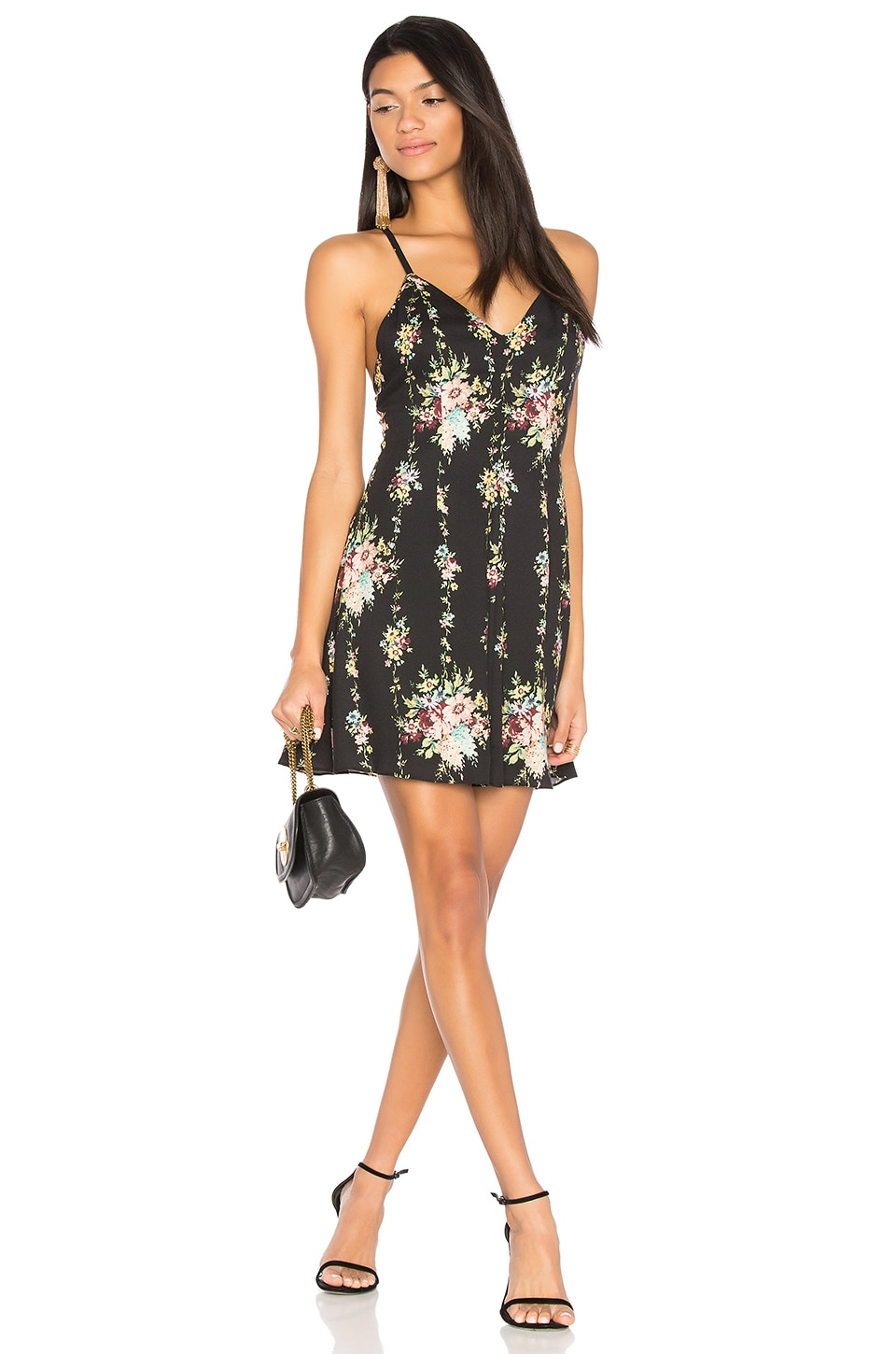 Alice + Olivia Alves Dress in Vintage Bouquet & Black