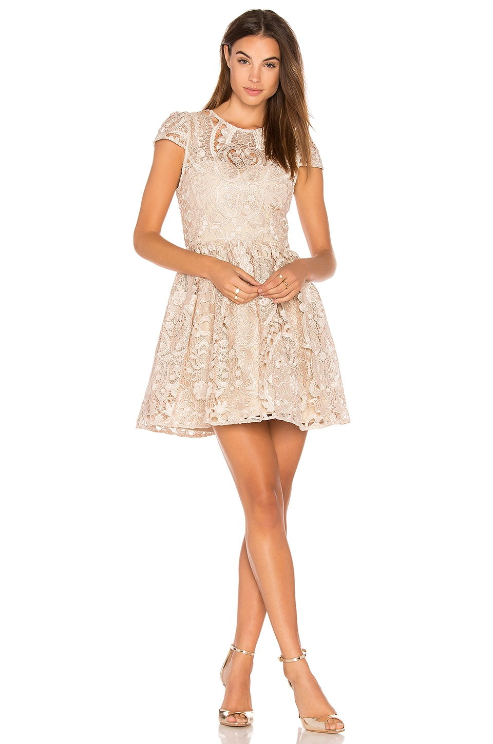 1a62a409523b Alice + Olivia Gracia Dress in Nude Pink | REVOLVE