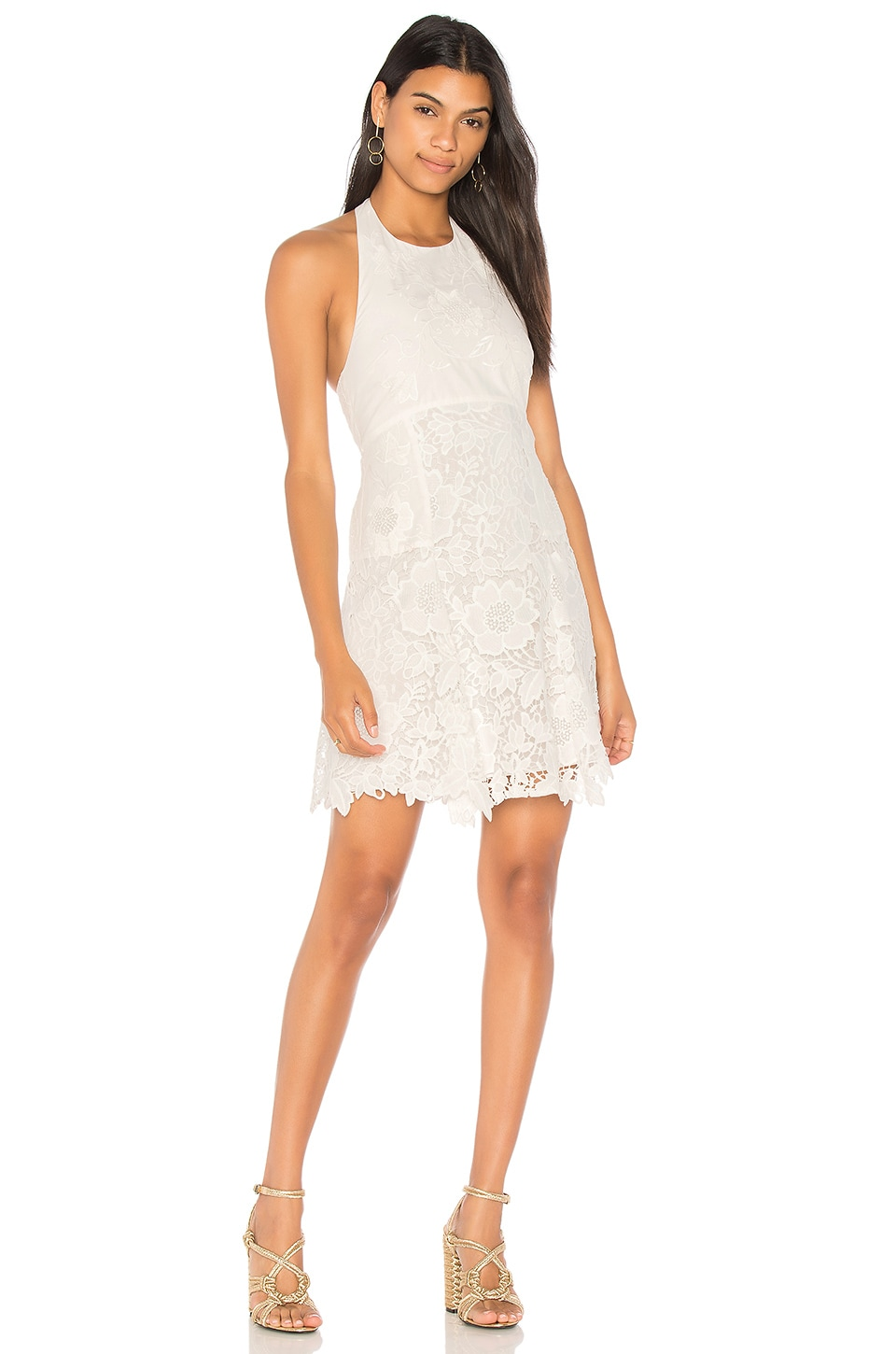 Alice   Olivia Susan Dress in Off White | REVOLVE