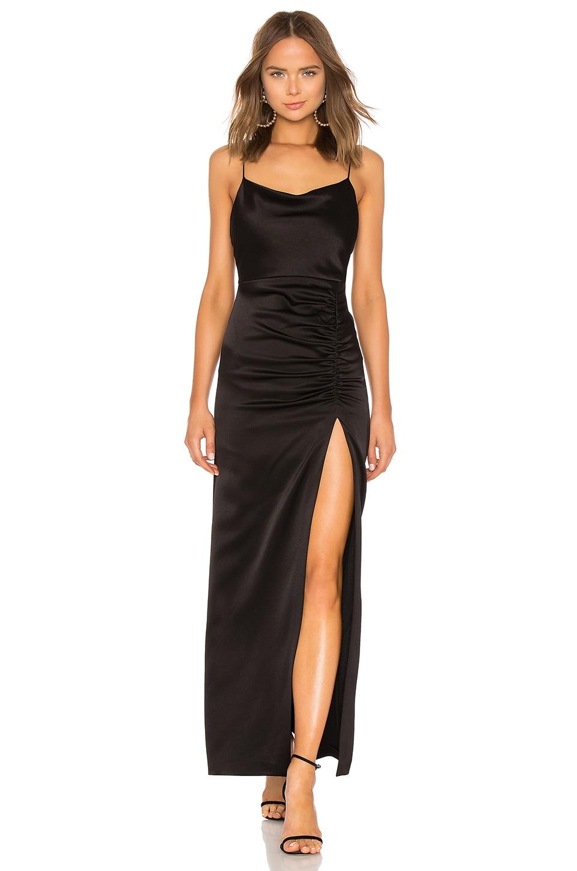 Alice + Olivia Diana Cowl Neck Gown in Black | REVOLVE