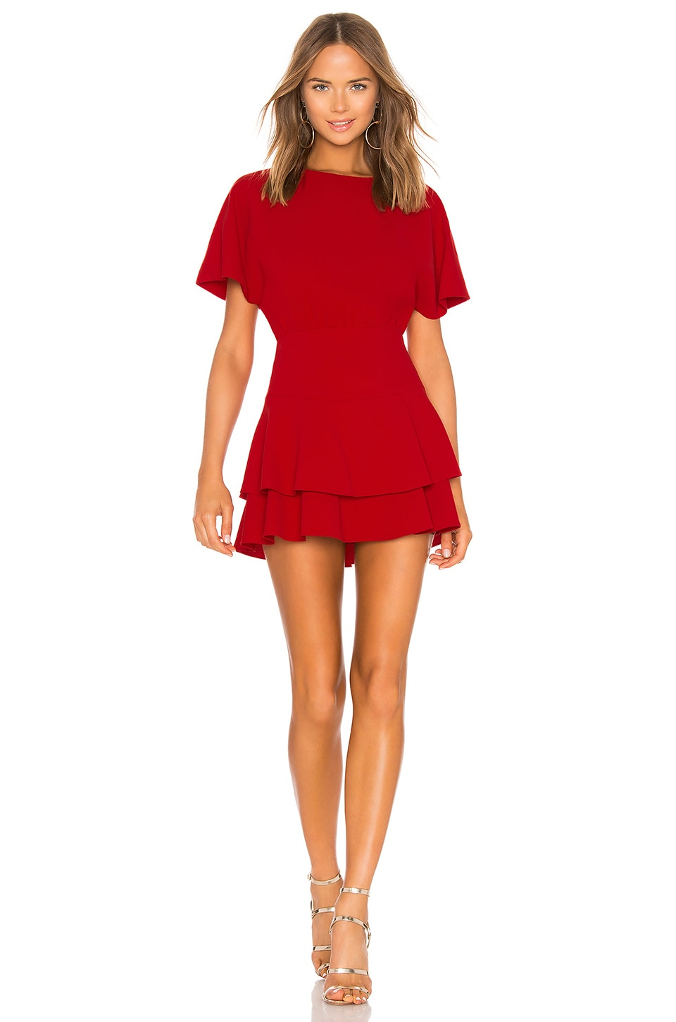Alice + Olivia Palmira Dress in Ruby