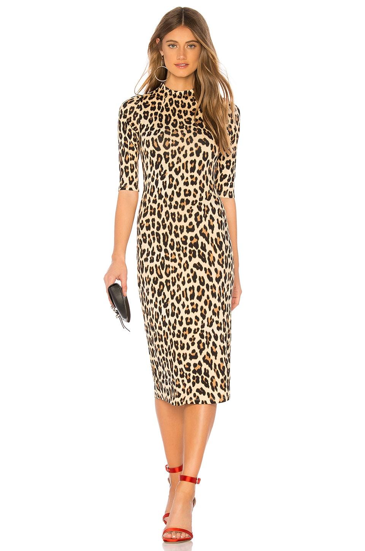 Alice + Olivia Delora Dress in Textured Leopard