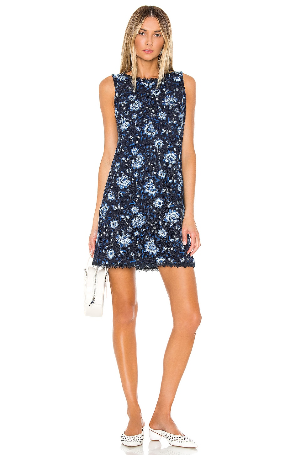 Alice + Olivia Clyde Shift Dress in Cornflower Multi