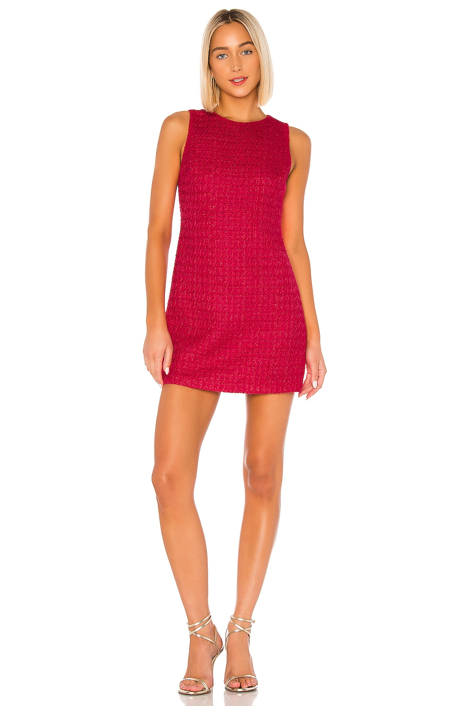 Alice + Olivia Clyde Aline Shift Dress in Bright Pink
