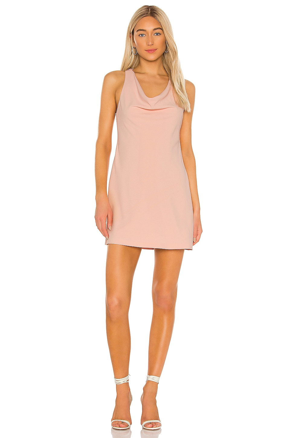 Alice + Olivia Harmony Mini Racer Back Dress in Blush