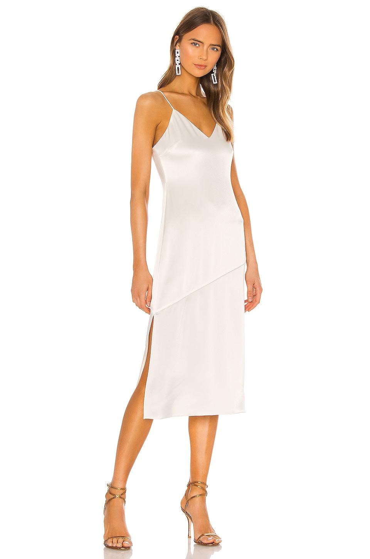 Alice + Olivia Kayla Seamed Slip Dress in Off White
