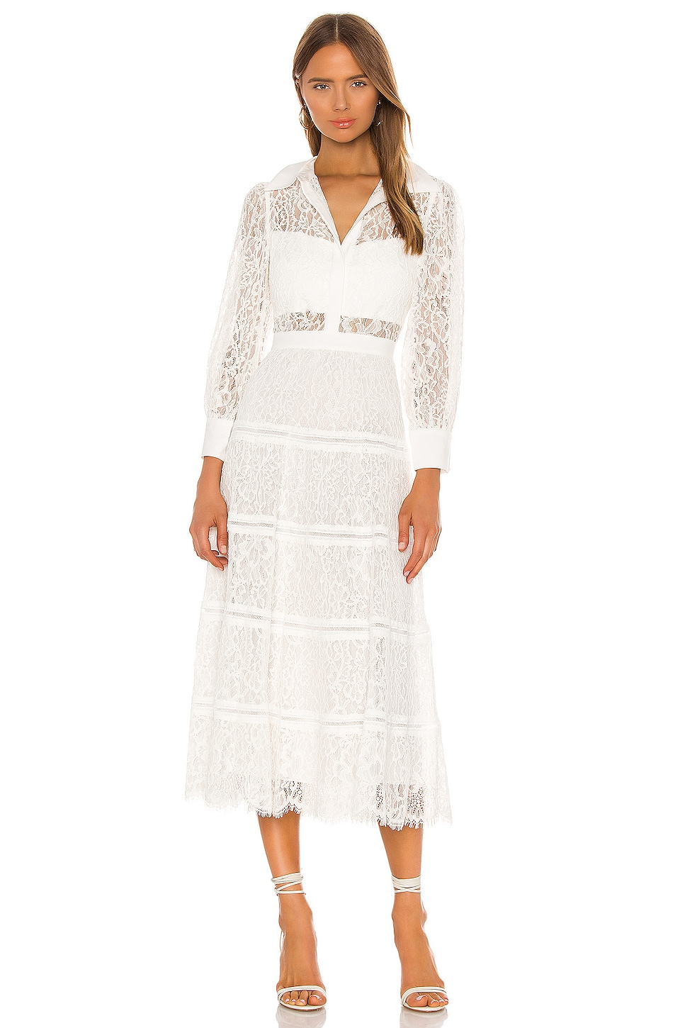 Anaya Collared Tiered Dress                     Alice + Olivia 1
