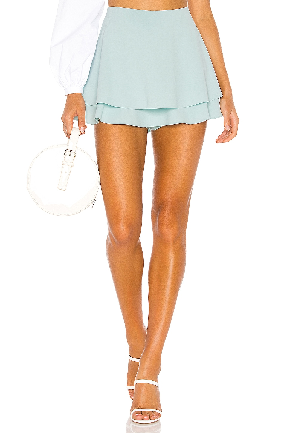 Alice + Olivia Mave Layered Skort in Light Blue