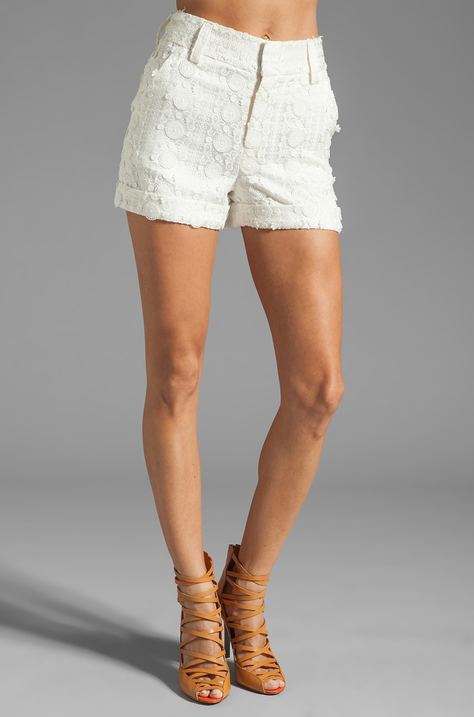 Alice + Olivia Paula High Waist Short in White