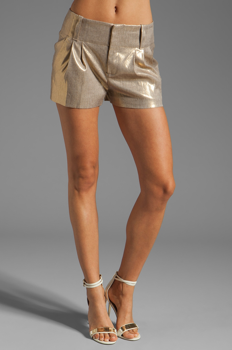 Alice + Olivia Anders Short in Bronze