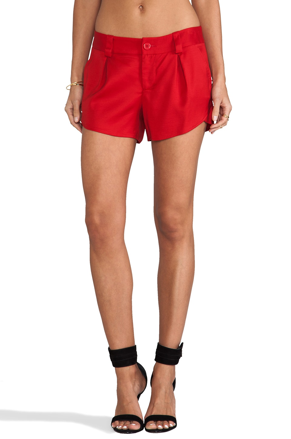 Alice + Olivia Butterfly Short in Red
